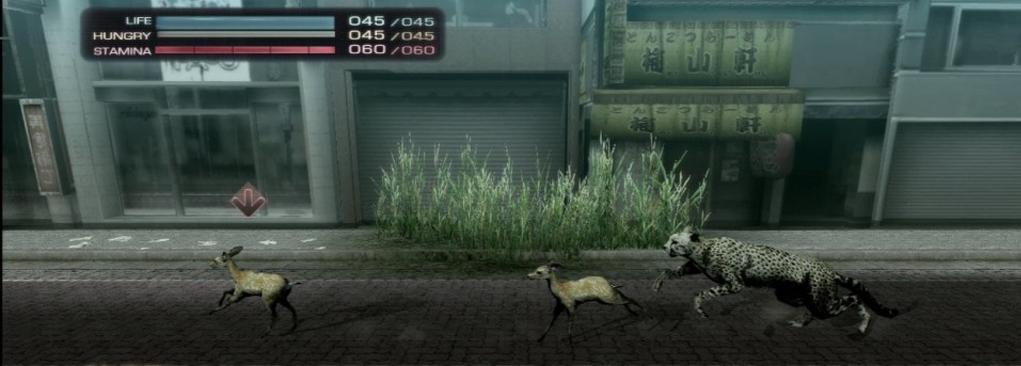 Tokyo-Jungle--un-chien,-un-cerf,-une-biche-et...-un-dinosaure-!