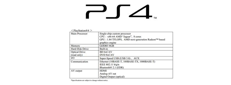Les-spécifications-de-la-Playstation-4