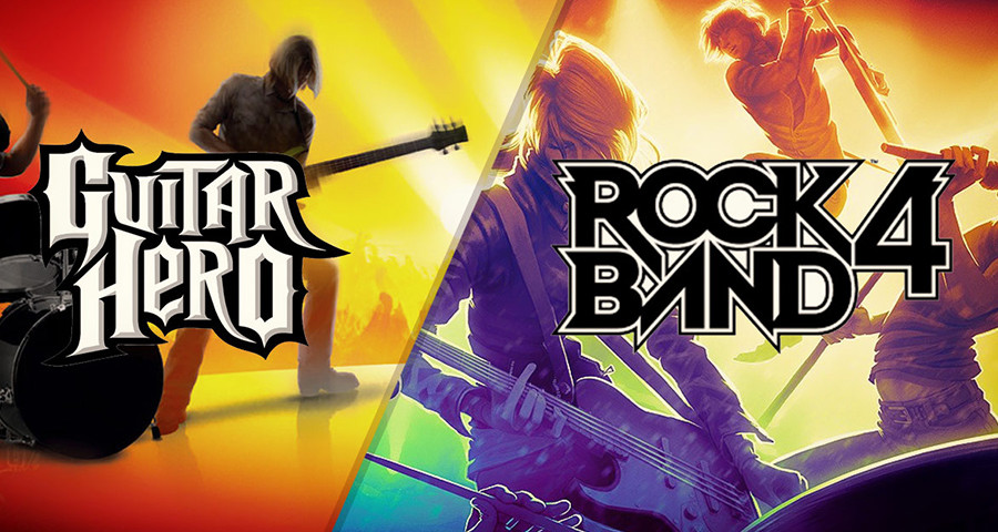 Rock band et Guitar Hero
