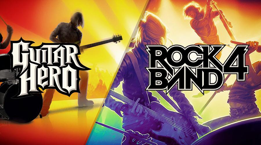 Rock band et Guitar Hero
